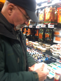 Jamie ponders sushi